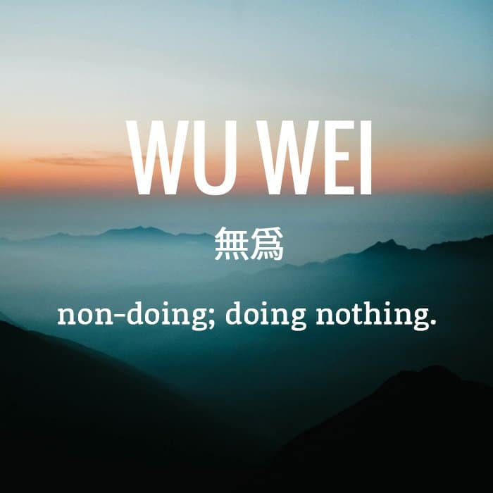 wu wei stop trying to meditate
