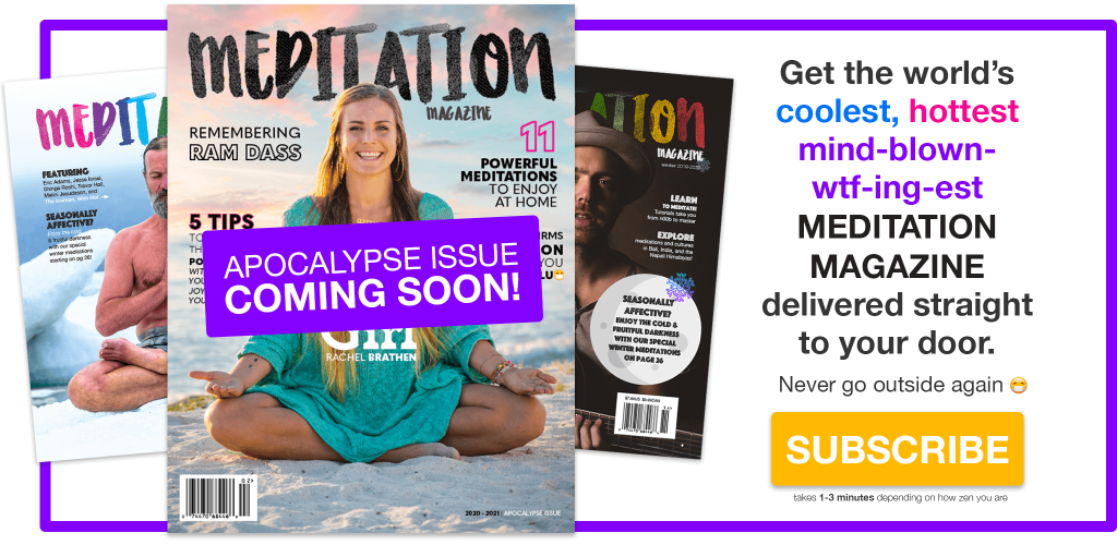 Meditation Magazine Subscribe Banner