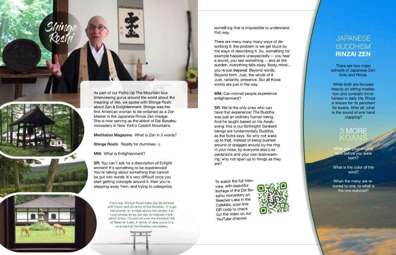meditation magazine shinge roshi
