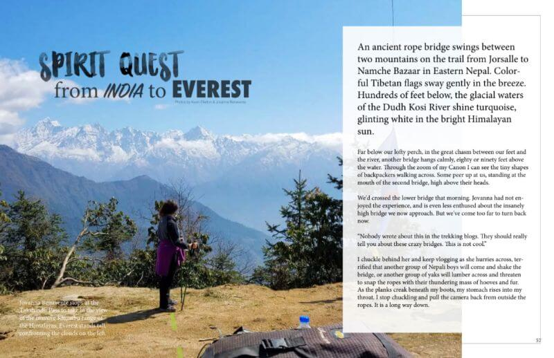 meditation magazine travel article